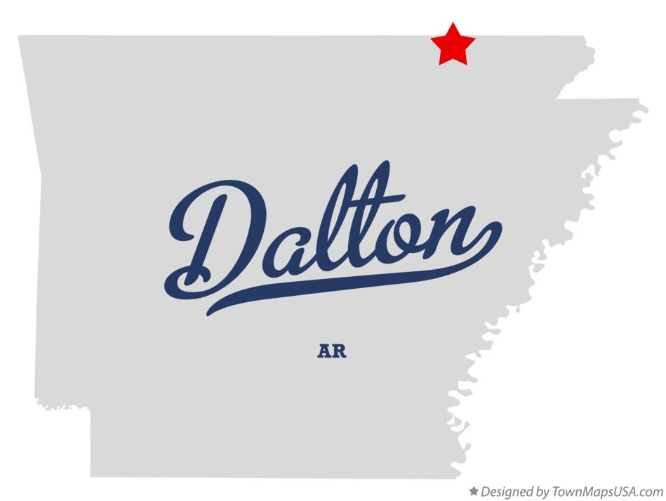 Map of Dalton Arkansas AR