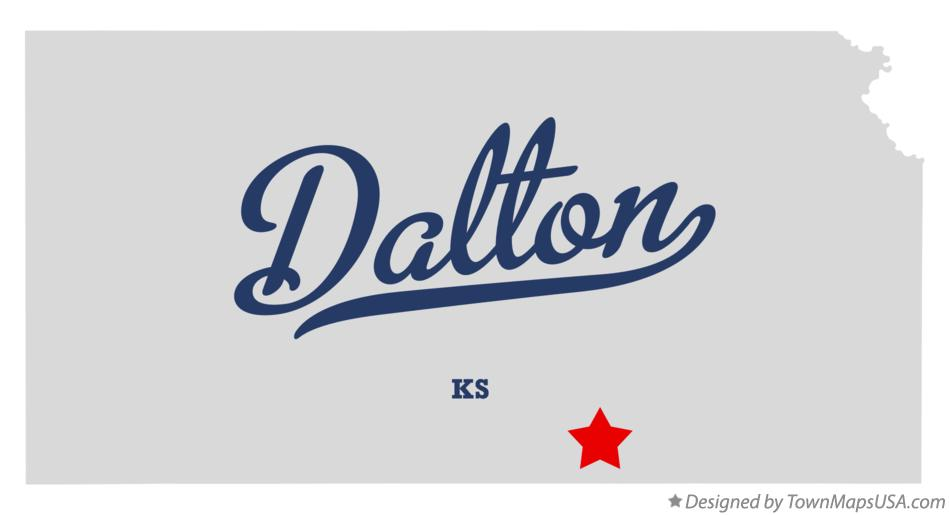 Map of Dalton Kansas KS
