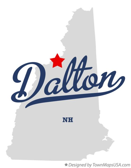 Map of Dalton New Hampshire NH