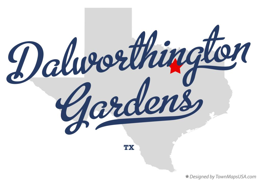 Map of Dalworthington Gardens Texas TX