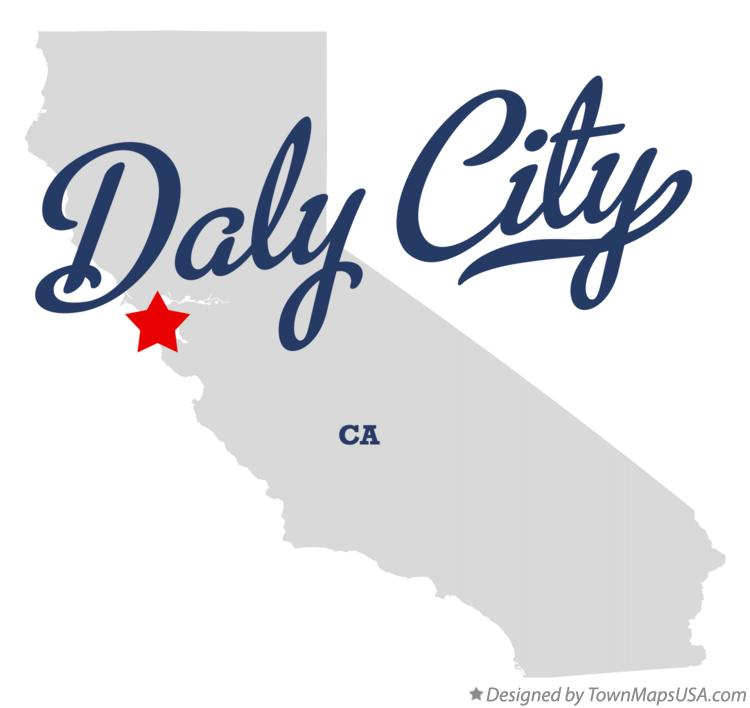 Map of Daly City California CA