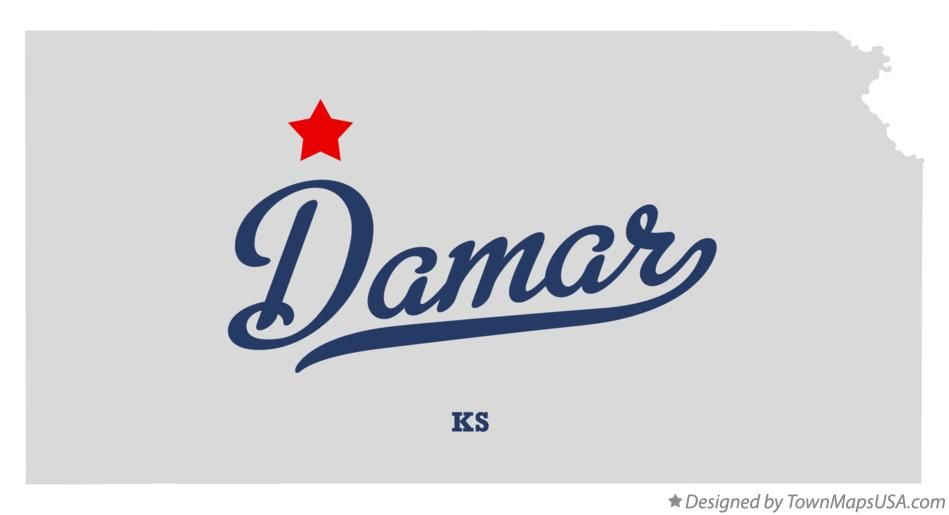 Map of Damar Kansas KS