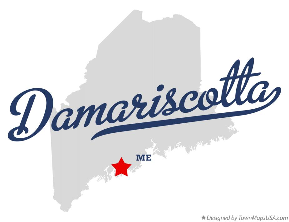Map of Damariscotta Maine ME