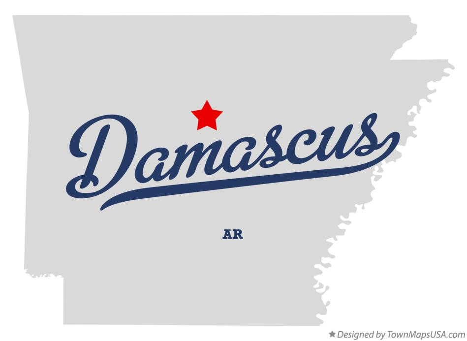 Map of Damascus Arkansas AR