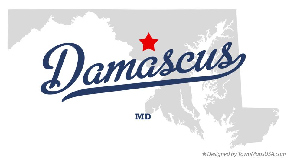 Map of Damascus Maryland MD