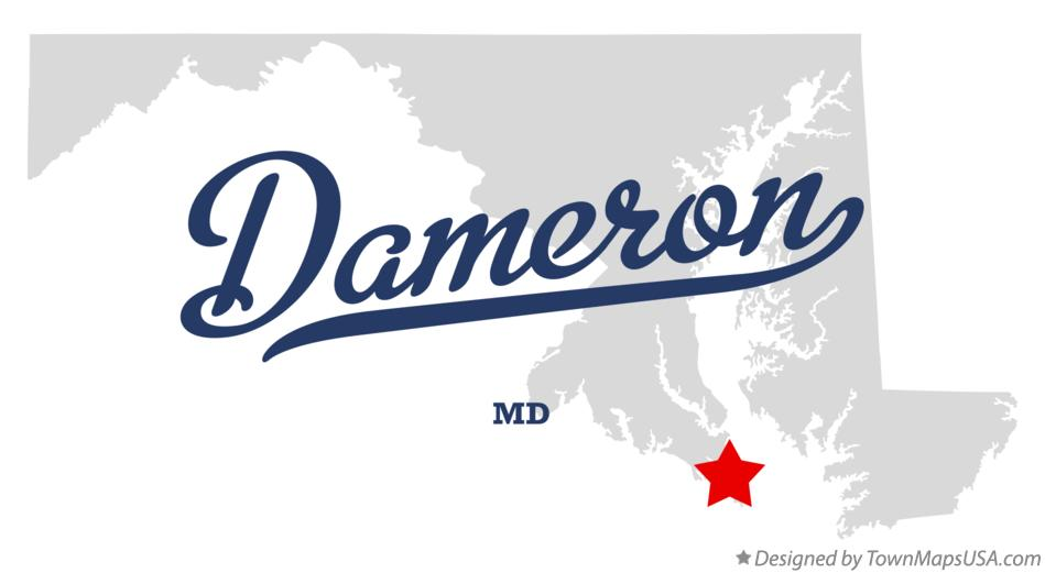 Map of Dameron Maryland MD