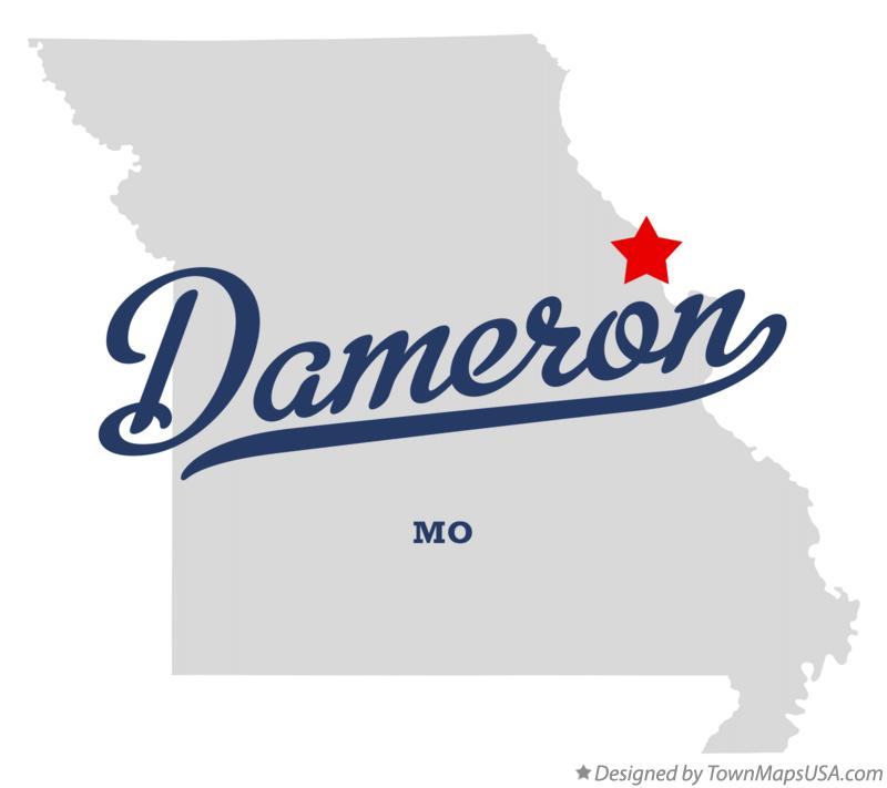 Map of Dameron Missouri MO