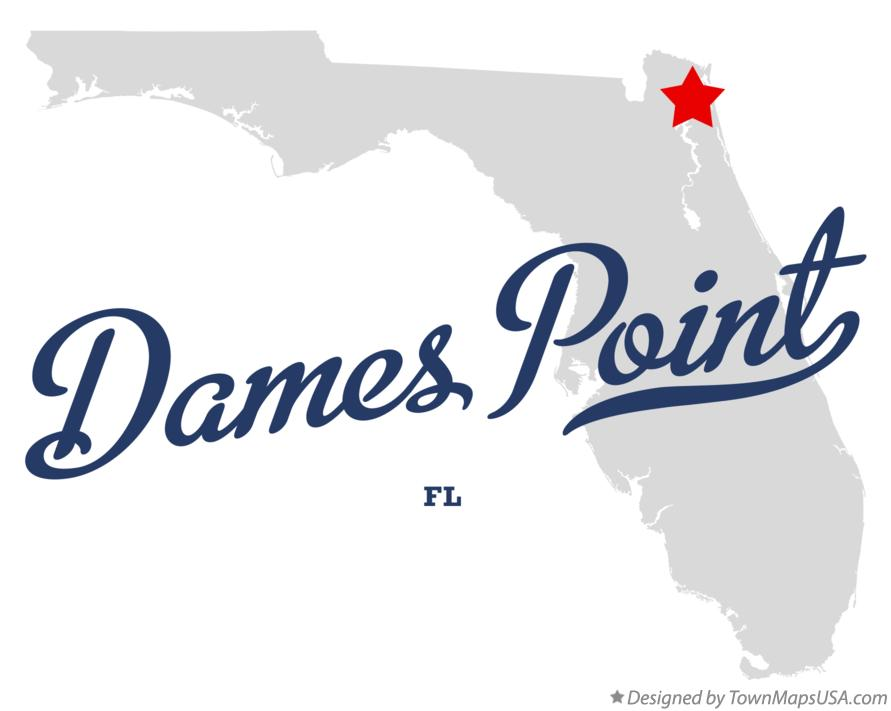 Map of Dames Point Florida FL