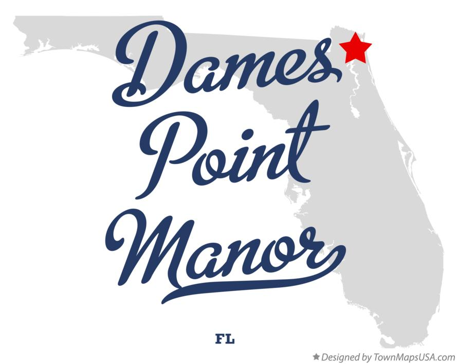 Map of Dames Point Manor Florida FL