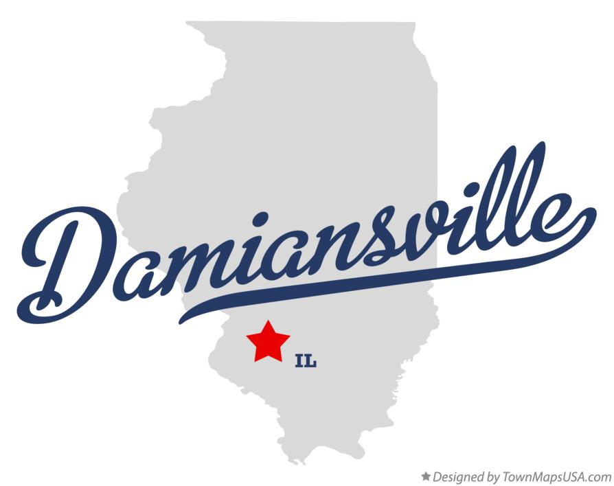 Map of Damiansville Illinois IL