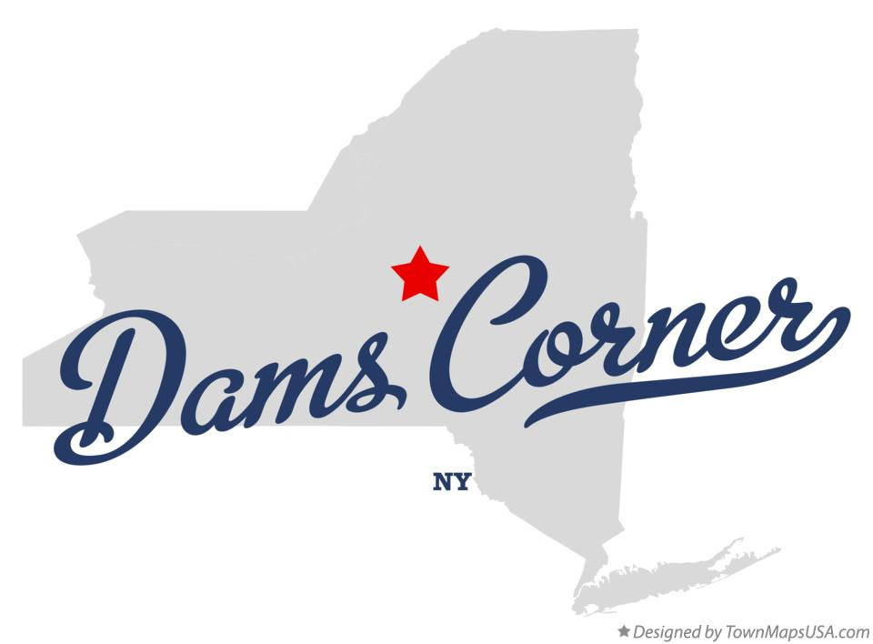 Map of Dams Corner New York NY
