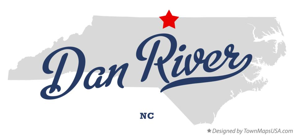Map of Dan River North Carolina NC