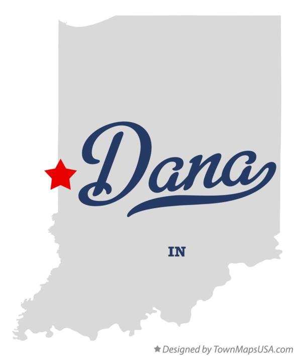 Map of Dana Indiana IN