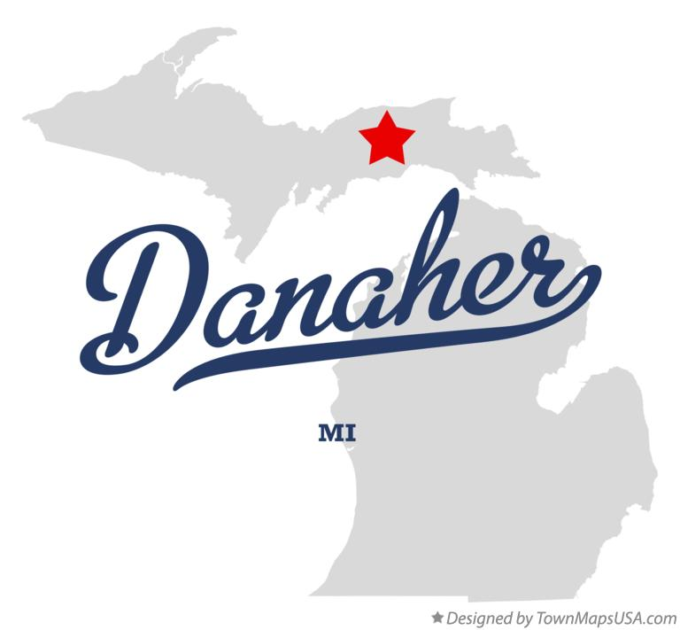 Map of Danaher Michigan MI