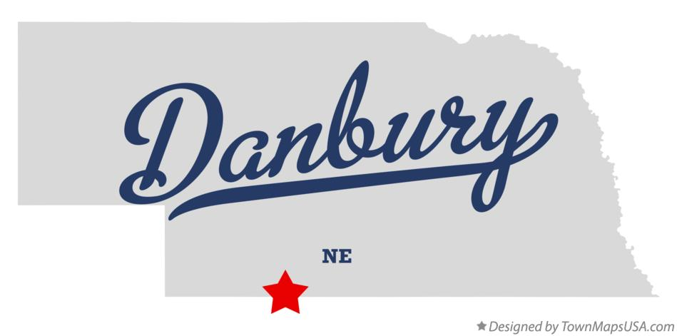 Map of Danbury Nebraska NE