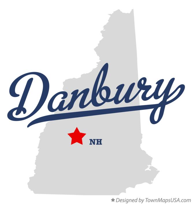 Map of Danbury New Hampshire NH