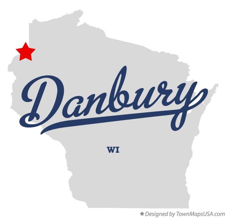 Map of Danbury Wisconsin WI