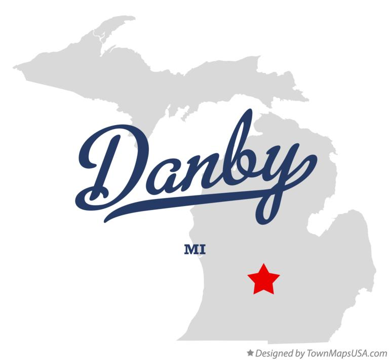 Map of Danby Michigan MI