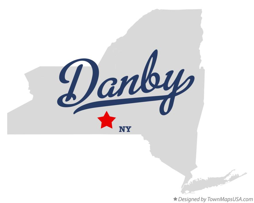 Map of Danby New York NY