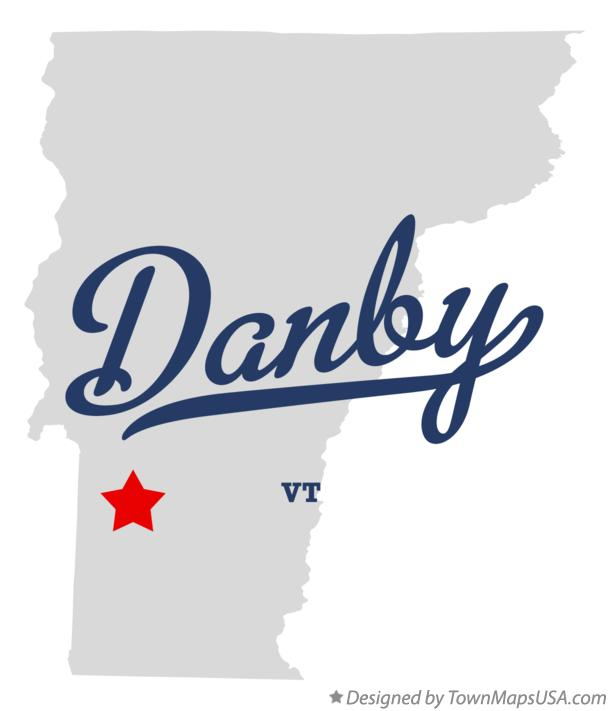 Map of Danby Vermont VT