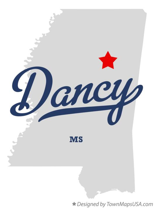 Map of Dancy Mississippi MS