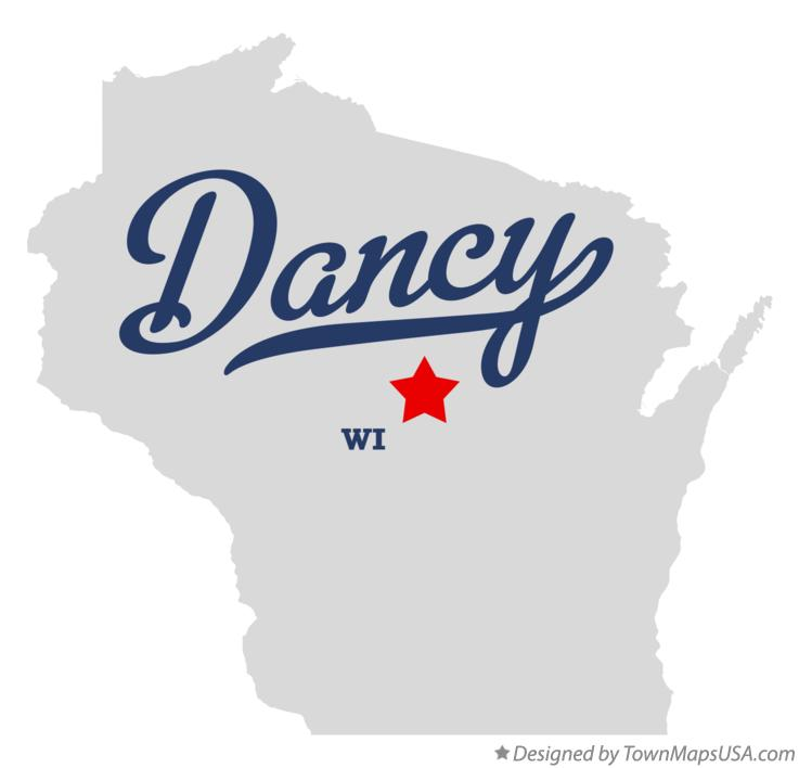 Map of Dancy Wisconsin WI