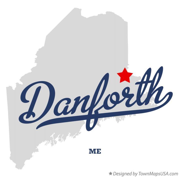 Danforth Maine Map.Map Of Danforth Me Maine