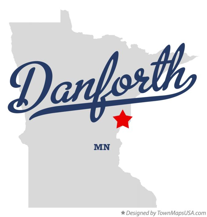 Map of Danforth Minnesota MN