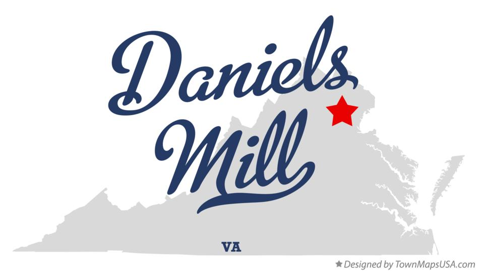 Map of Daniels Mill Virginia VA