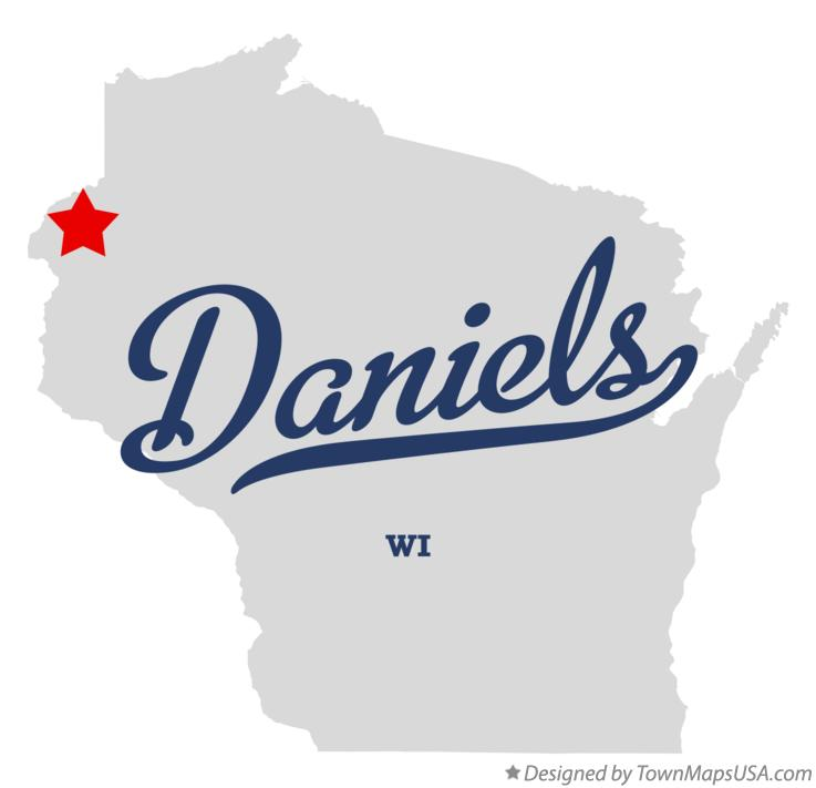 Map of Daniels Wisconsin WI