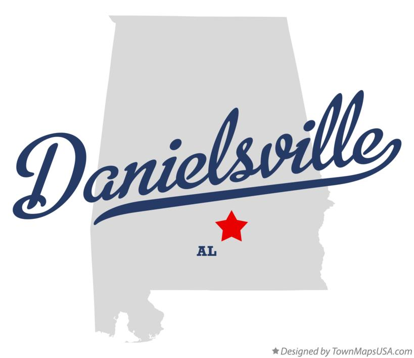 Map of Danielsville Alabama AL
