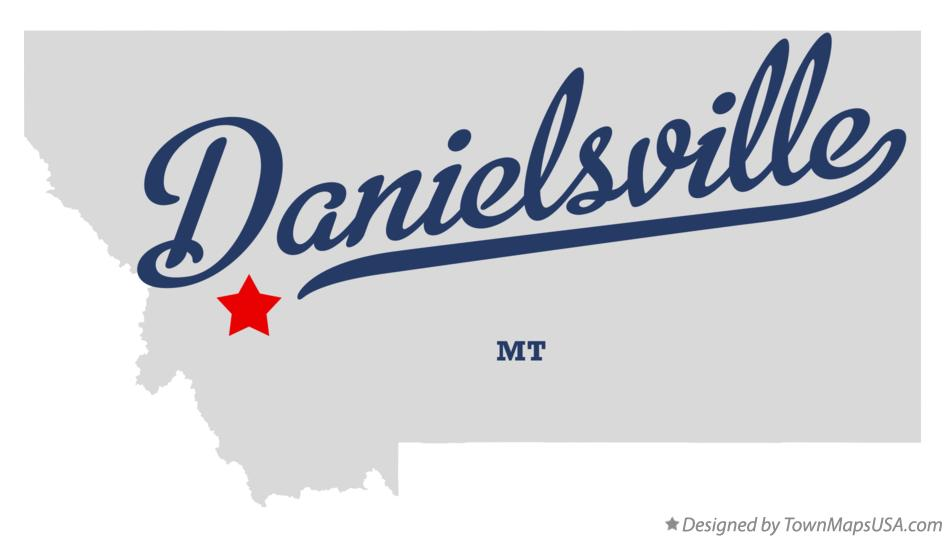 Map of Danielsville Montana MT