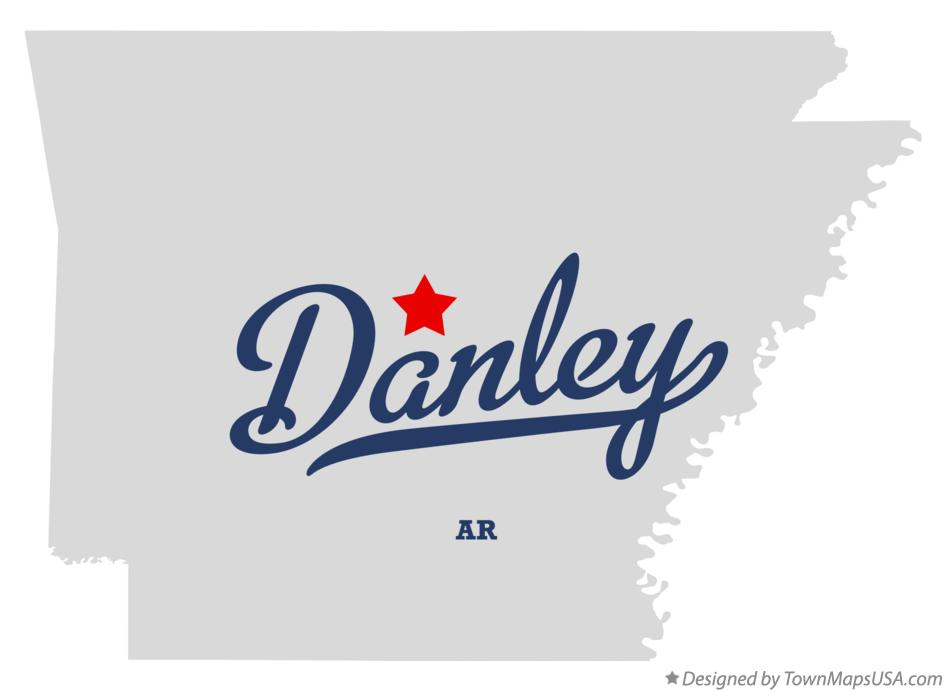 Map of Danley Arkansas AR