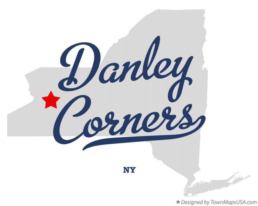 Map of Danley Corners New York NY