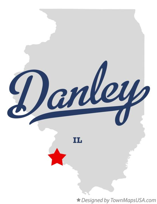 Map of Danley Illinois IL