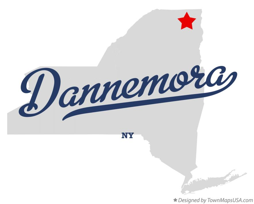 Map of Dannemora New York NY