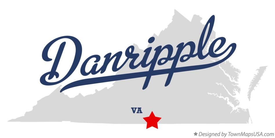 Map of Danripple Virginia VA