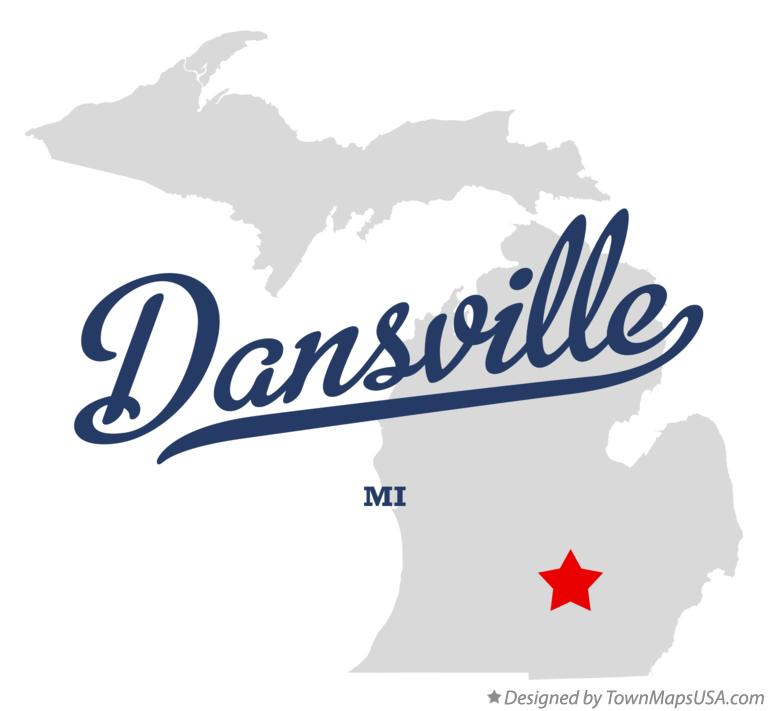 Map of Dansville Michigan MI