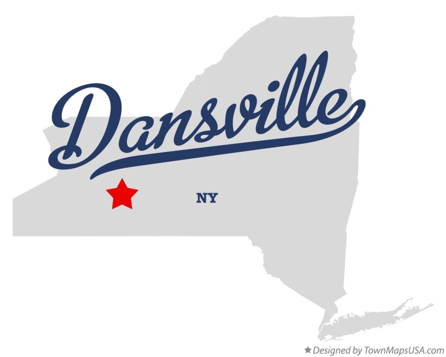 Map of Dansville New York NY