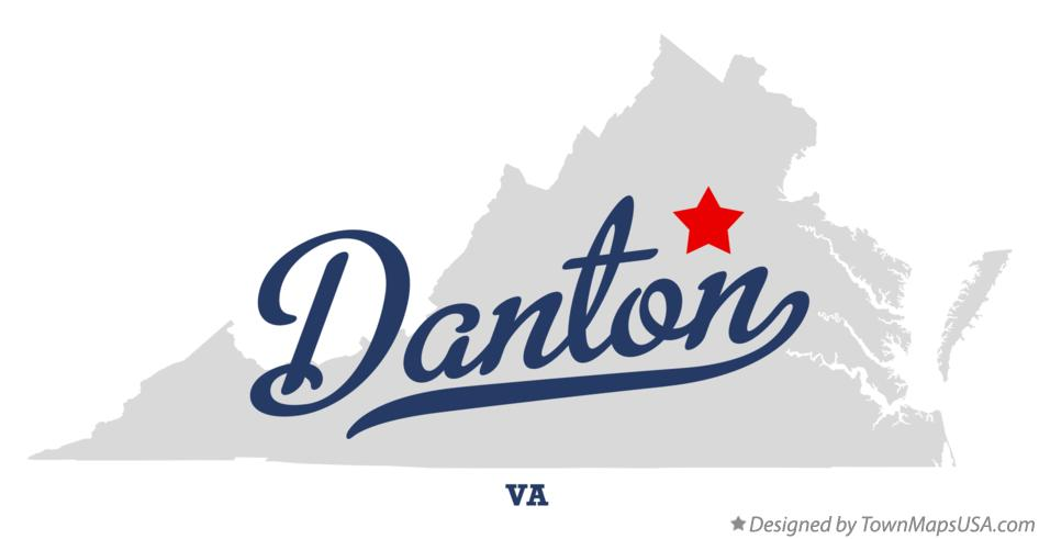 Map of Danton Virginia VA