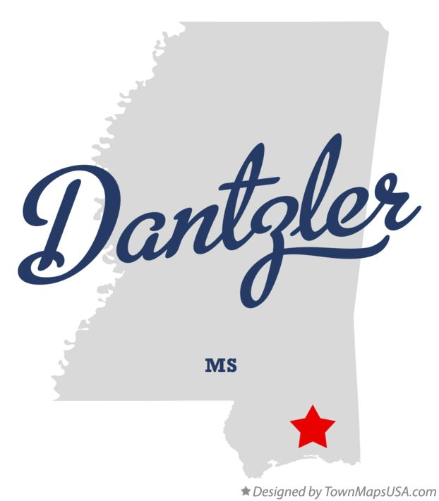 Map of Dantzler Mississippi MS