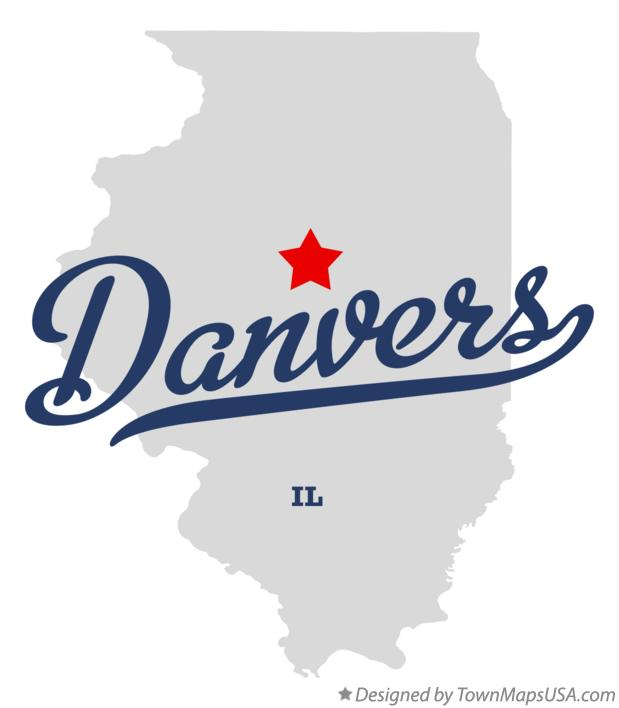 Map of Danvers Illinois IL