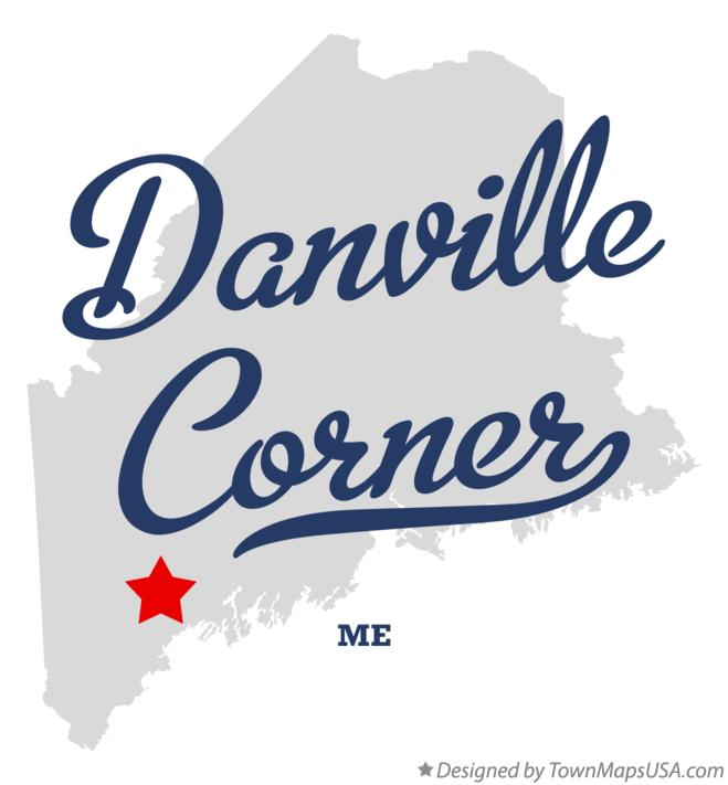 Map of Danville Corner Maine ME