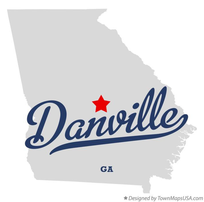 Map of Danville Georgia GA