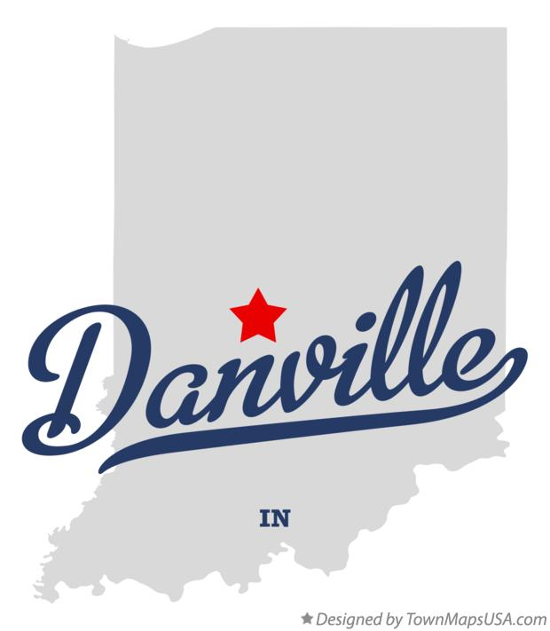 Map of Danville Indiana IN