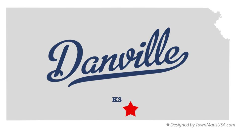 Map of Danville Kansas KS