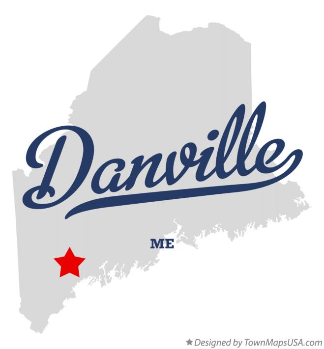 Map of Danville Maine ME