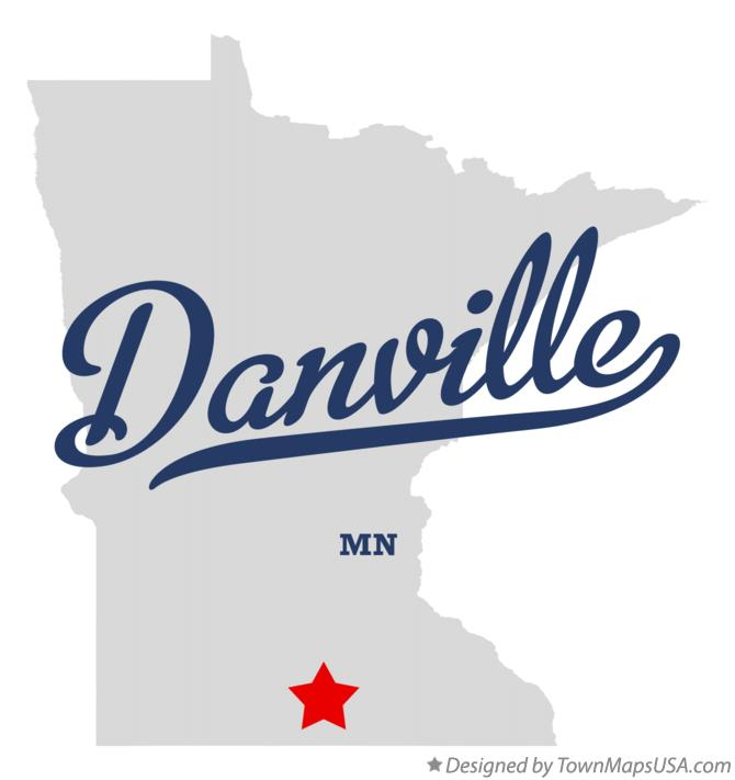 Map of Danville Minnesota MN
