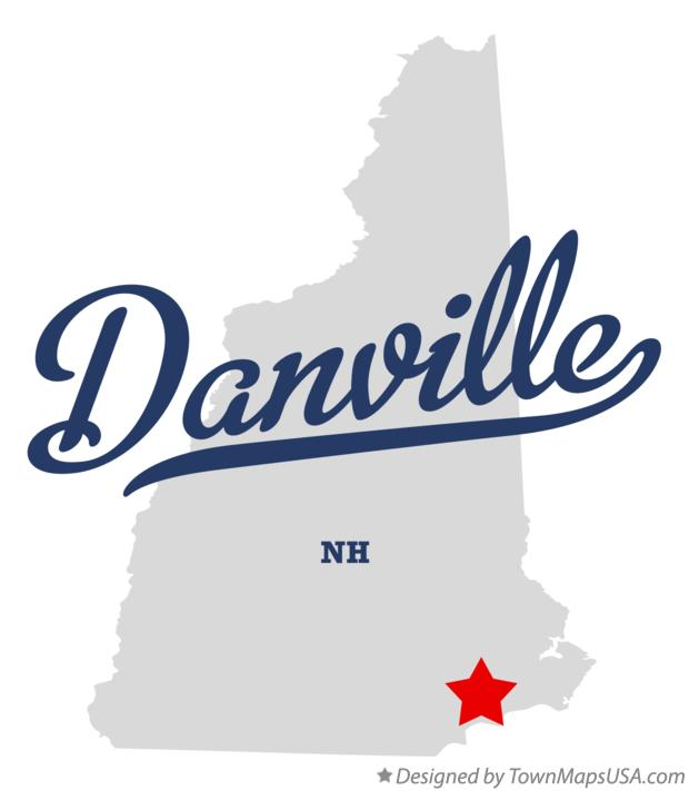 Map of Danville New Hampshire NH