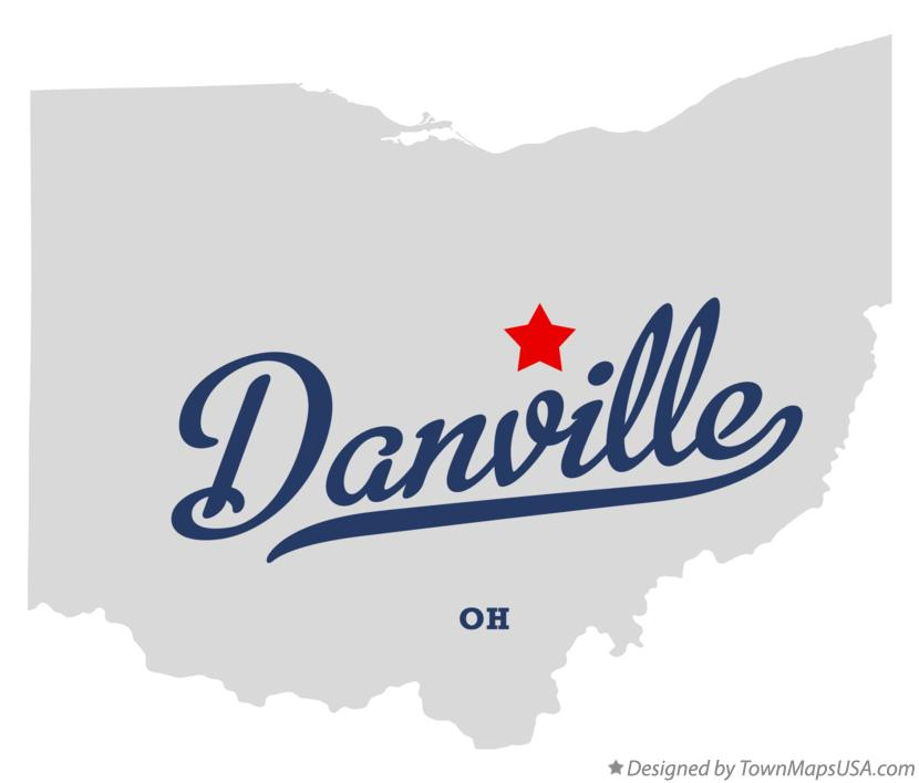 Map of Danville, Knox County, OH, Ohio